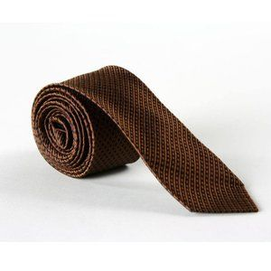 Vintage 60s Metcalf Brown/Black Silk Necktie
